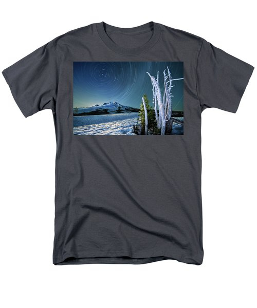 Men's T-Shirt  (Regular Fit) featuring the photograph Star Trails Over Mt. Hood by William Lee