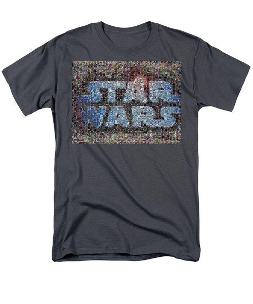 Star Wars Posters Mosaic Men's T-Shirt  (Regular Fit) by Paul Van Scott