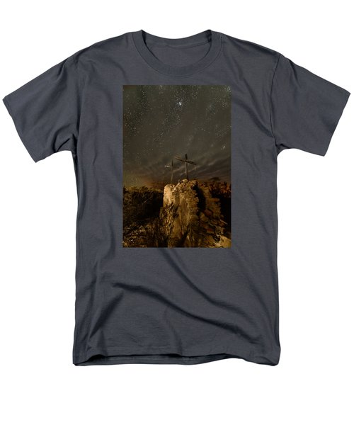 Men's T-Shirt  (Regular Fit) featuring the photograph Stars And Crosses by Allen Biedrzycki