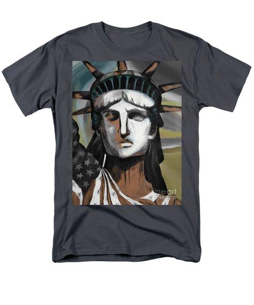 statue of liberty KJ78 Men's T-Shirt  (Regular Fit) by Gull G