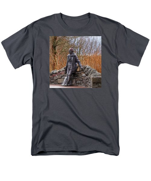 Men's T-Shirt  (Regular Fit) featuring the photograph Statue Of Tom Weir by Jeremy Lavender Photography