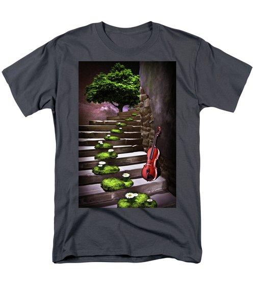 Steps Of Happiness Men's T-Shirt  (Regular Fit) by Mihaela Pater