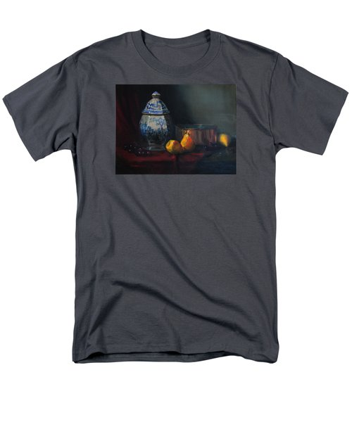 Men's T-Shirt  (Regular Fit) featuring the painting Still Life With Antique Dutch Vase by Barry Williamson