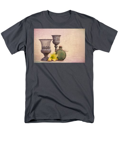 Men's T-Shirt  (Regular Fit) featuring the photograph Still Life With Yellow Lily by Tom Mc Nemar