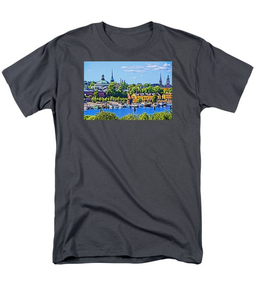 Men's T-Shirt  (Regular Fit) featuring the photograph Stockholm Waterfront by Dennis Cox WorldViews