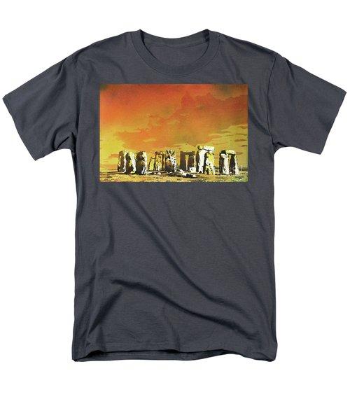 Stonehenge Ruins Men's T-Shirt  (Regular Fit) by Ryan Fox