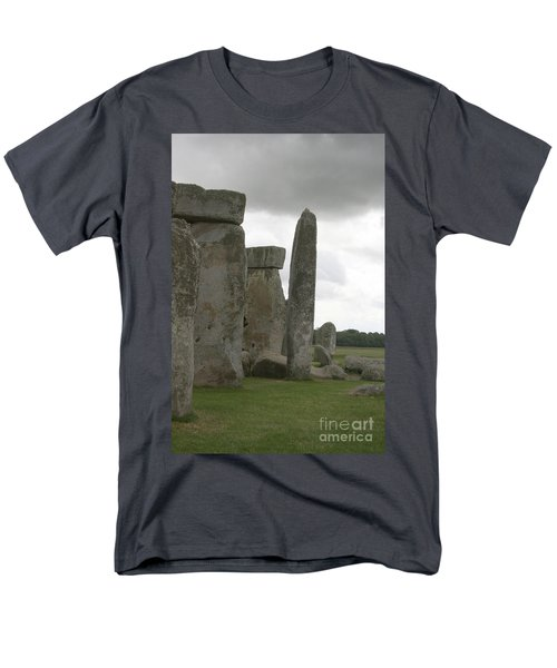 Stonehenge Side Pillars Men's T-Shirt  (Regular Fit) by Mary Mikawoz