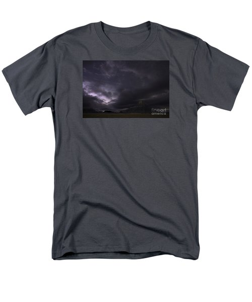 Men's T-Shirt  (Regular Fit) featuring the photograph Storm Over Factory Butte by Keith Kapple