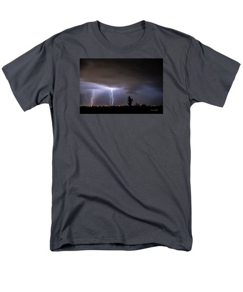 Men's T-Shirt  (Regular Fit) featuring the photograph Stormy Night by Karen Slagle
