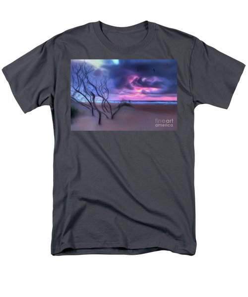 Stormy Outer Banks Sunrise And Bush Ap Men's T-Shirt  (Regular Fit) by Dan Carmichael