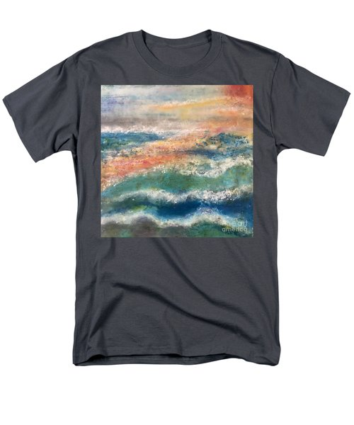 Men's T-Shirt  (Regular Fit) featuring the painting Stormy Seas by Kim Nelson