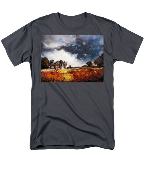 Men's T-Shirt  (Regular Fit) featuring the painting Stormy Skies by Geni Gorani