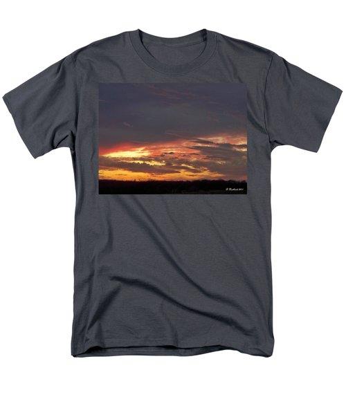 Stormy Sunset Men's T-Shirt  (Regular Fit) by Betty Northcutt