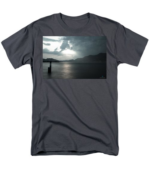 Stormy Sunset On The Lake Men's T-Shirt  (Regular Fit) by Cesare Bargiggia