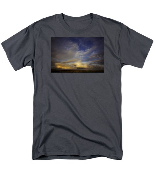 Men's T-Shirt  (Regular Fit) featuring the photograph Stormy Sunset by Toni Hopper