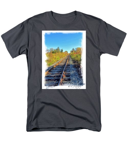 Men's T-Shirt  (Regular Fit) featuring the photograph Straight Track by Constantine Gregory