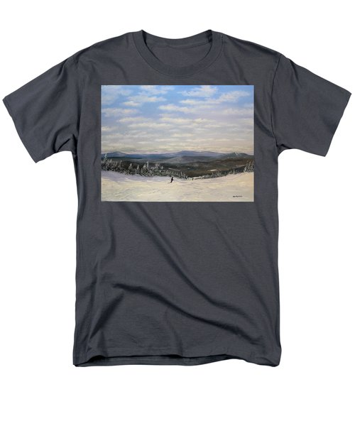 Men's T-Shirt  (Regular Fit) featuring the painting Stratton Skiing by Ken Ahlering