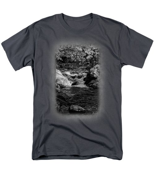 Stream In Autumn No.18 Men's T-Shirt  (Regular Fit) by Mark Myhaver