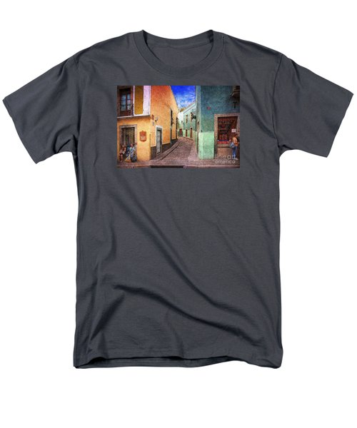 Street In Guanajuato Men's T-Shirt  (Regular Fit) by John  Kolenberg