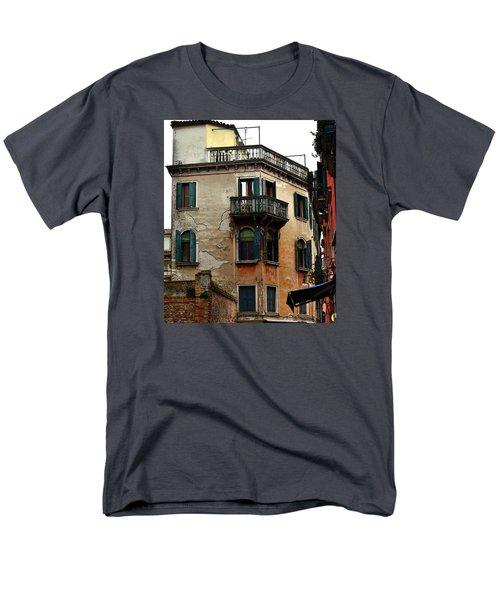 Men's T-Shirt  (Regular Fit) featuring the photograph Street Scene Venician Shutters by Richard Ortolano