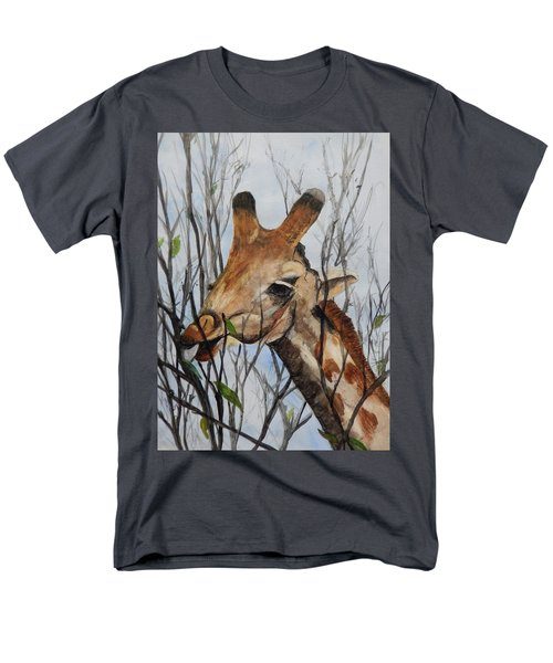 Men's T-Shirt  (Regular Fit) featuring the painting Stretch by Betty-Anne McDonald