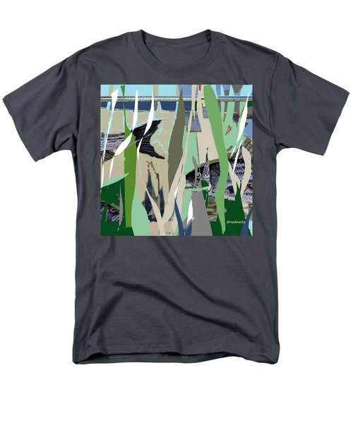 Men's T-Shirt  (Regular Fit) featuring the mixed media Striper  by Andrew Drozdowicz