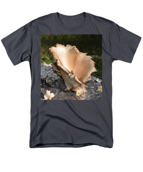Men's T-Shirt  (Regular Fit) featuring the photograph Stump Mushroom  by R  Allen Swezey