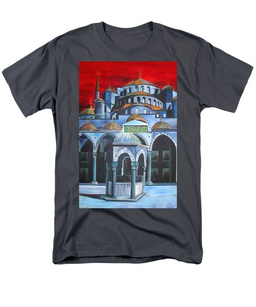 Sultan Ahmed Mosque Istanbul Men's T-Shirt  (Regular Fit) by Tracey Harrington-Simpson