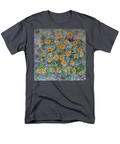 Spring Bouquet Men's T-Shirt  (Regular Fit) by Theresa Marie Johnson