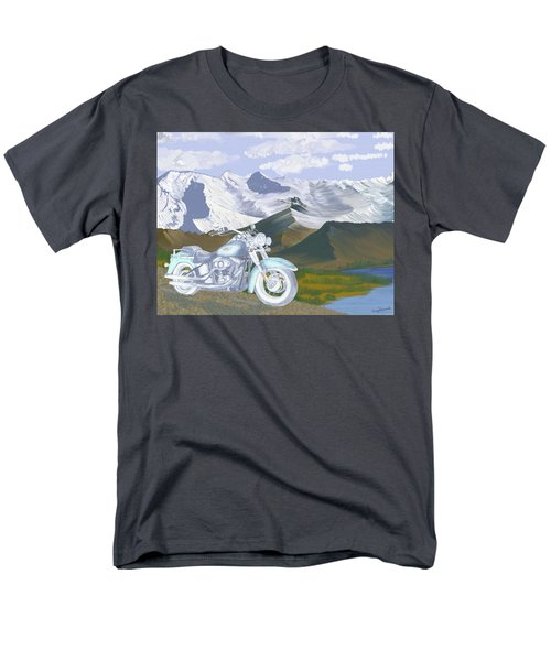 Men's T-Shirt  (Regular Fit) featuring the drawing Summer Ride by Terry Frederick