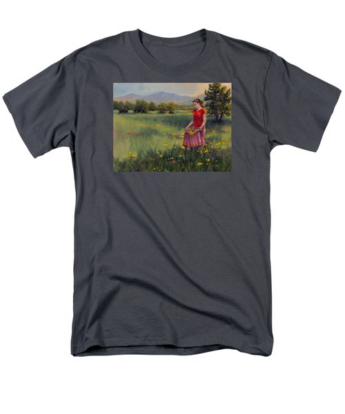 Men's T-Shirt  (Regular Fit) featuring the painting Summers Bounty by Kurt Jacobson