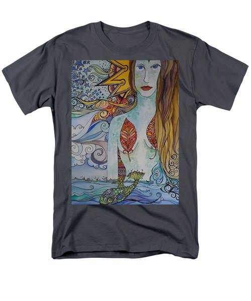 Sun And Sea Godess Men's T-Shirt  (Regular Fit) by Claudia Cole Meek