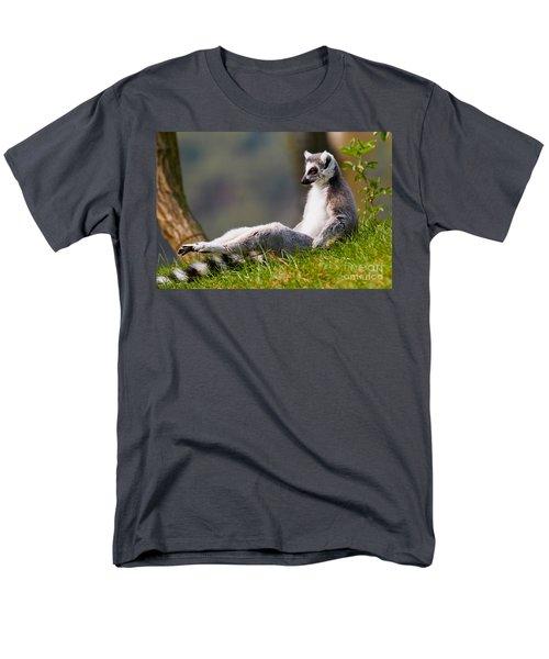 Sun Bathing Ring-tailed Lemur  Men's T-Shirt  (Regular Fit) by Nick  Biemans