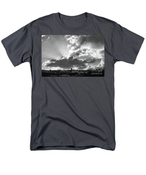 Men's T-Shirt  (Regular Fit) featuring the photograph Sun Beams Over Church by Nicholas Burningham