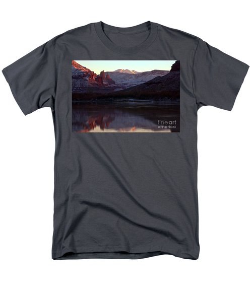 Men's T-Shirt  (Regular Fit) featuring the photograph Sun Down At Fisher Towers by Adam Jewell