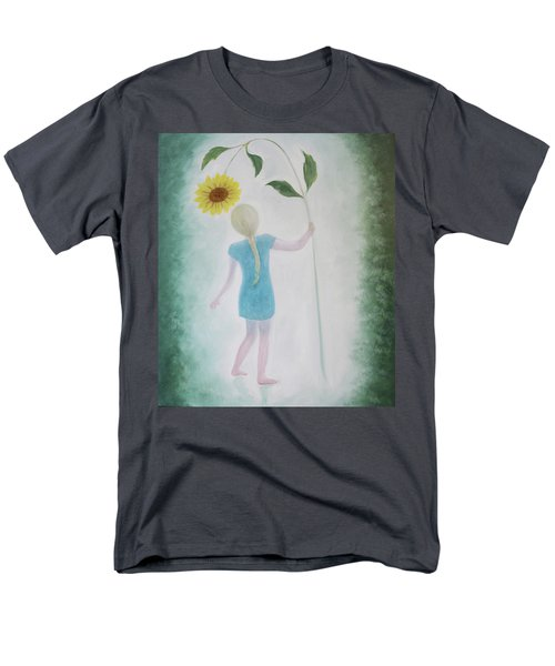 Men's T-Shirt  (Regular Fit) featuring the painting Sun Flower Dance by Tone Aanderaa