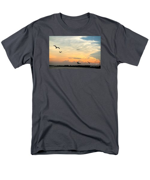 Men's T-Shirt  (Regular Fit) featuring the photograph Sun Setting Over The Lake   by Yumi Johnson