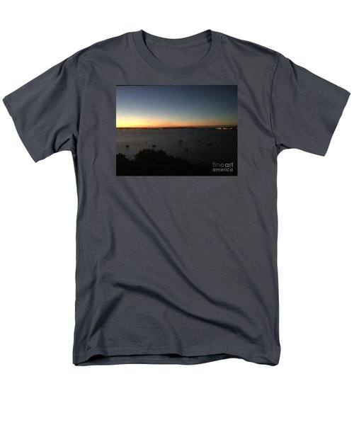 Sunday Sunrise, October 4, 2015, Casco Bay, Portland, Maine Men's T-Shirt  (Regular Fit) by Patricia E Sundik