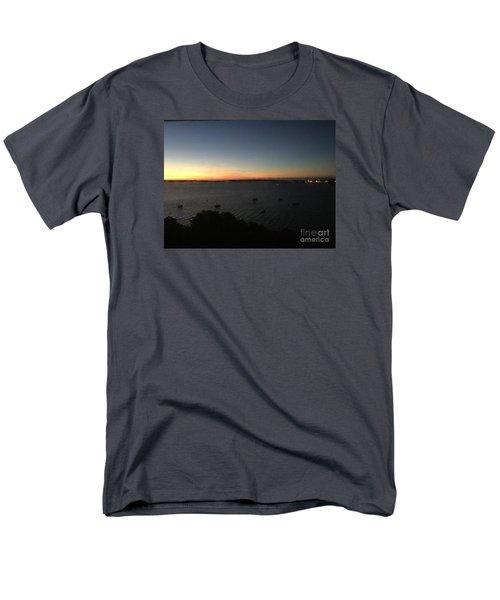 Sunday Sunrise, October 4, 2015, Casco Bay, Portland, Maine Men's T-Shirt  (Regular Fit)