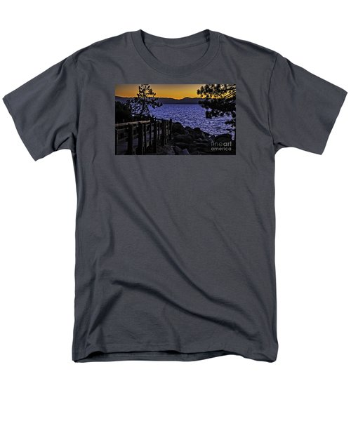 Sundown At Sand Harbor Men's T-Shirt  (Regular Fit) by Nancy Marie Ricketts