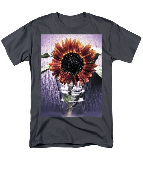 Men's T-Shirt  (Regular Fit) featuring the photograph Sunflower In A Cup by Karen Stahlros