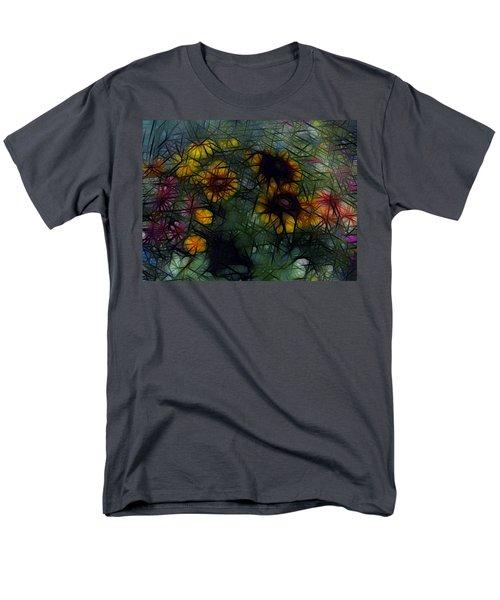 Sunflower Streaks Men's T-Shirt  (Regular Fit) by Carol Crisafi