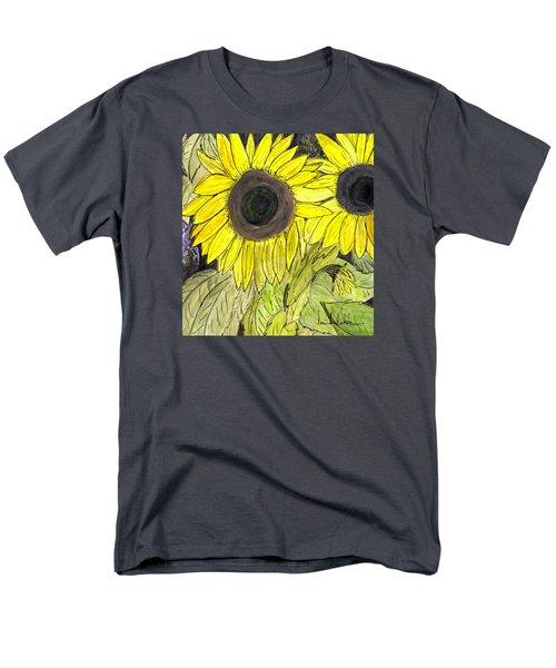 Sunflowers Men's T-Shirt  (Regular Fit) by Lou Belcher