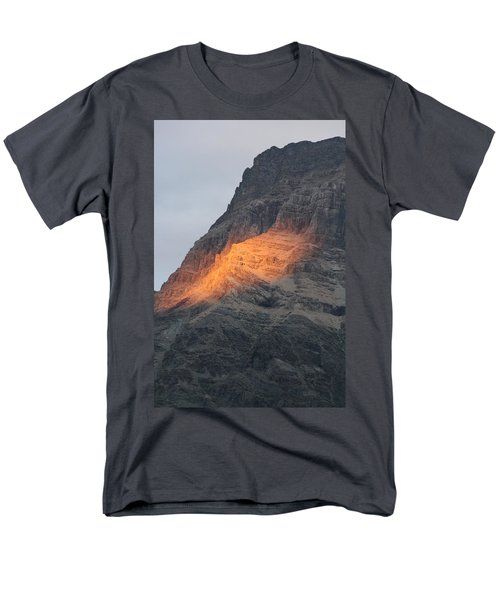 Men's T-Shirt  (Regular Fit) featuring the photograph Sunlight Mountain by Mary Mikawoz