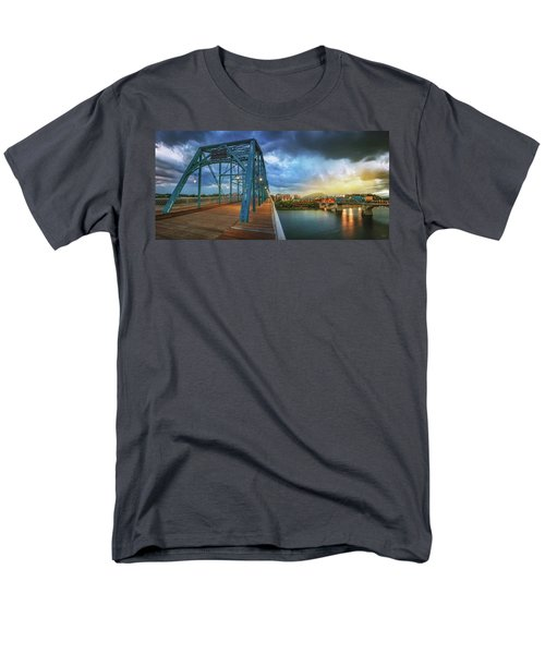 Sunlight Thru Rain Over Chattanooga Men's T-Shirt  (Regular Fit) by Steven Llorca