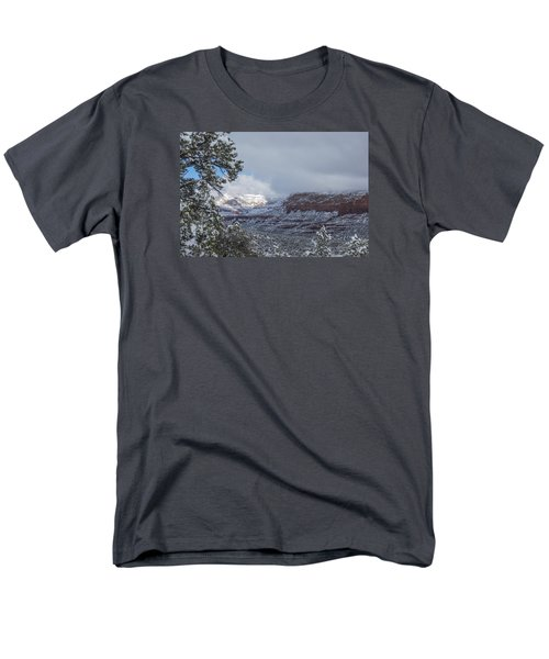 Sunlit Snowy Cliff Men's T-Shirt  (Regular Fit) by Laura Pratt