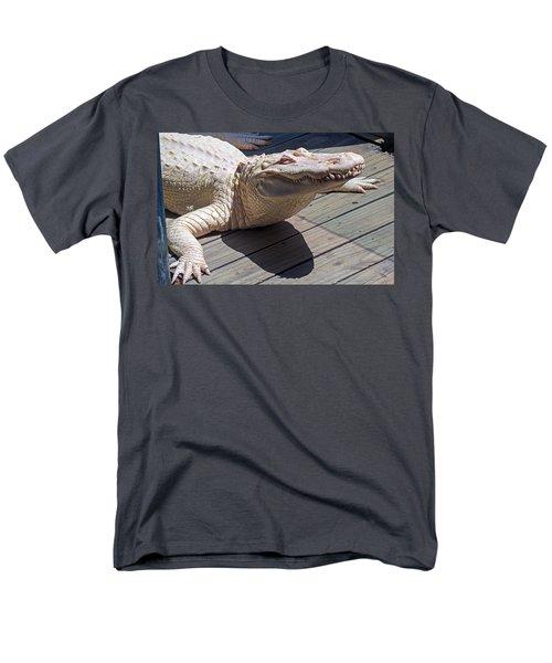 Sunning Albino Alligator Men's T-Shirt  (Regular Fit) by Kenneth Albin