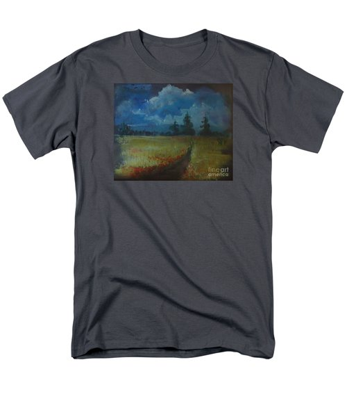 Men's T-Shirt  (Regular Fit) featuring the painting Sunny Field by Christina Verdgeline