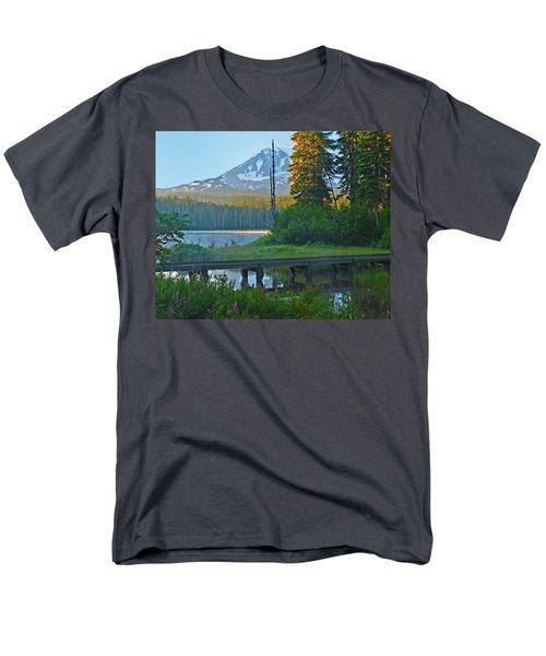 Men's T-Shirt  (Regular Fit) featuring the photograph Sunrise At Takhlakh Lake Under Mt Adams by Jack Moskovita
