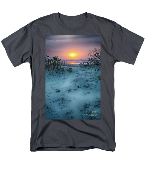 Men's T-Shirt  (Regular Fit) featuring the photograph Sunrise Hike On The Outer Banks by Dan Carmichael